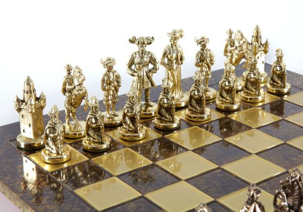 Mittelalterliche Ritter, Medieval Schachspiel mit Geschenkbox