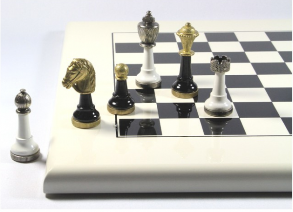 Schach-Set Elixit S Metall und Holz