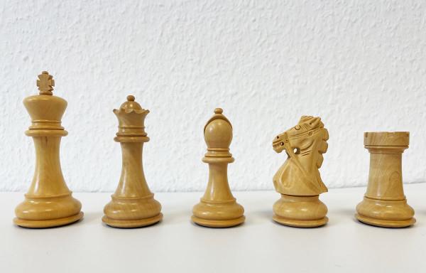 Schachfiguren Super Staunton Königshöhe 102 mm, kunstvoll von Hand geschnitzte Springer