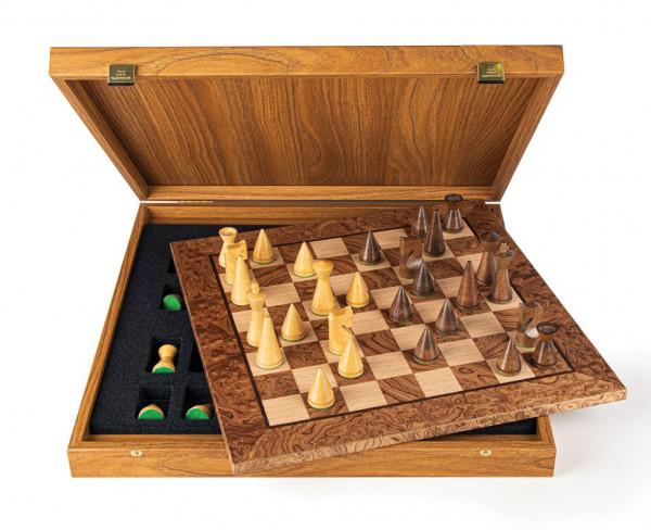 Schach Set Design Modern Style Schachfiguren mit Schachbrett in Geschenkbox