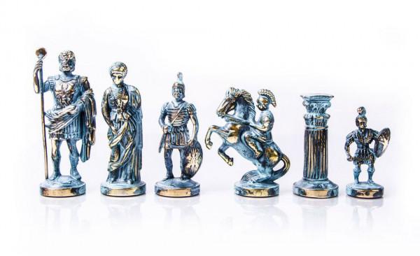 Schachfiguren Griechisch und Römische Zeitperiode Antik-Stil, aus Zinklegierung, KH 97 mm