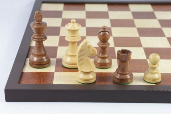 Schach Set No. 2/14 Akazienholz und Buchsbaum Königshöhe 85 mm