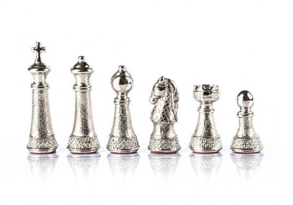 Metall Staunton Schachfiguren mit einer Königshöhe von 9,7 cm
