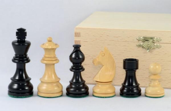Schachfiguren Ebenholz und Buchsbaum 76 mm