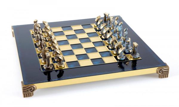 Cycladic Art Schachfiguren mit Schachbrett in Geschenkbox