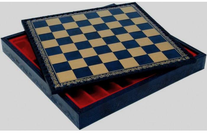 Napoleon-Schach-Kassette-Leder-Design