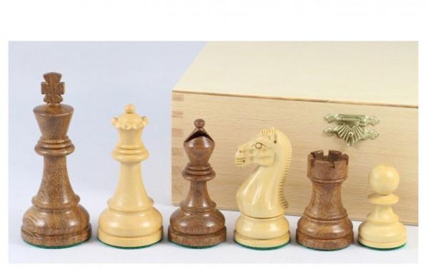 Tournament Akazie Schachfiguren Königshöhe 95 mm, schöner handgeschnitzter Springer, beschwert