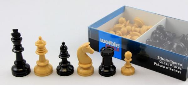 Schul Schachfiguren Kunststoff Königshöhe 74 mm
