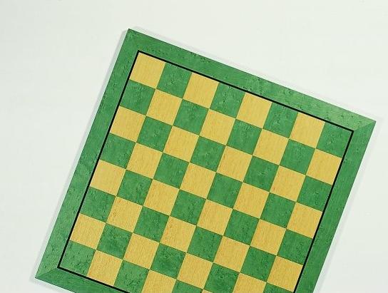 Exklusives Schachbrett - Feldgröße 45 mm, Intarise, mit Ader