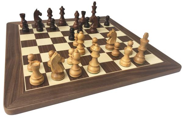 Schachset Staunton Classic König 95 mm, Schachfiguren mit Schachbrett 52x52 cm