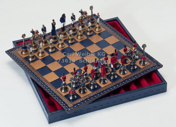 Napoleon Schachfiguren mit Schachkassette