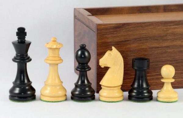 Staunton Schachfiguren 89 mm, schwarz, beschwert