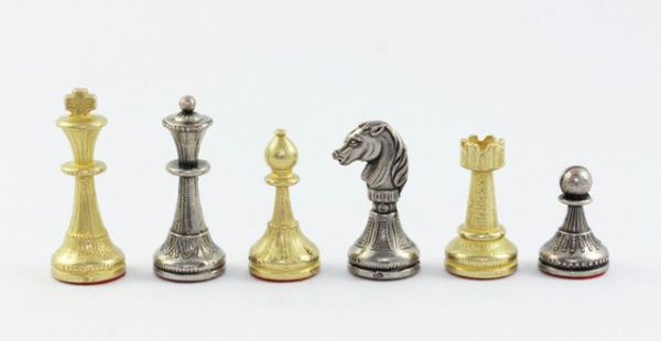 Schachfiguren Staunton klein, Zink-Druckguß