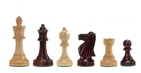 Schachfiguren Tournament in Rotholz und Buchsbaum, KH 95mm
