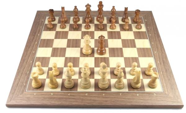 Schach Set Gradient 76, aus Akazienholz und Buchsbaum