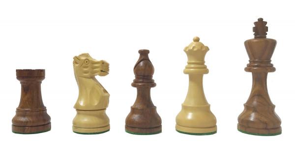 Schachfiguren aus Sheesham und Buchsbaum Holz, König 98 mm, Tournament