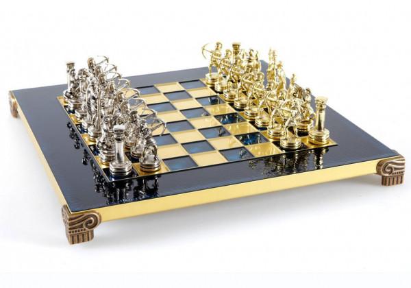 Bogenschützen Schachfiguren mit Schachbrett, in Geschenkbox