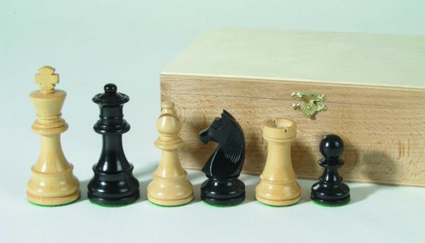 Schachfiguren Staunton schwarz 83 mm beschwert