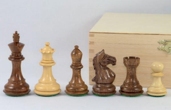 """Schachfiguren """"Supreme Staunton"""", schönes Akazie Massivholz und Buchsbaum, Königshöhe 89 mm"""