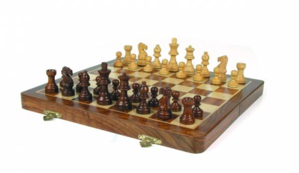 Schachkassette aus Akazienholz, Königshöhe 72 mm, magnetisch