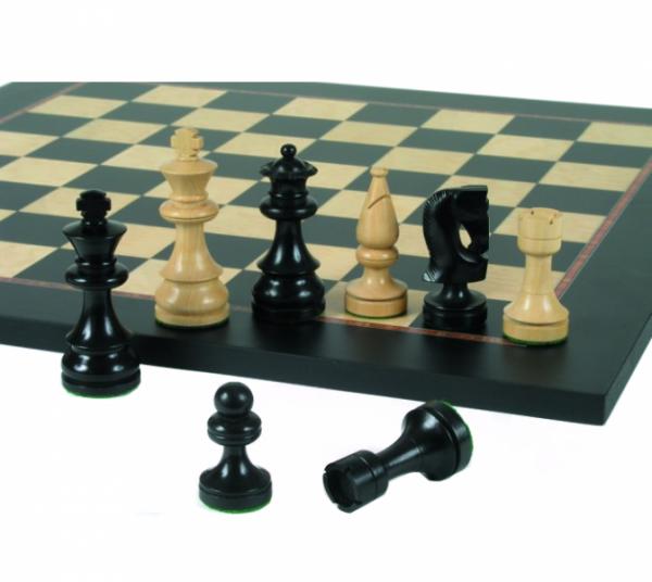 SchachSet Modern-Design 89, schwarz, poliert