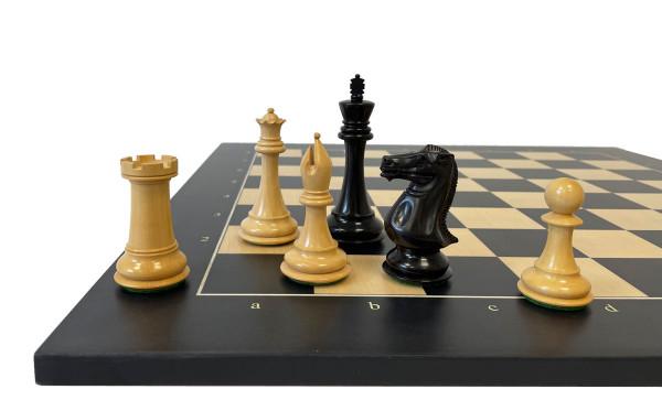 Schachset Top Tournament exklusive Schachfiguren Ebenholz und Buchsbaum, mit Schachbrett Anigre